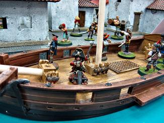 The crew braces for high seas mayhem